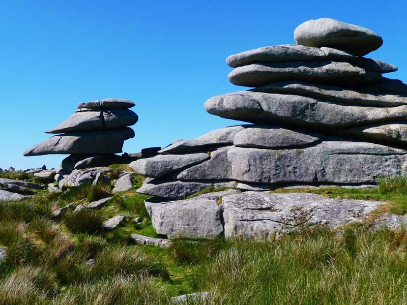 Stowes Hill on Bodmin Moors in Cornwall