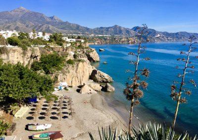 Nerja beach scene Andalucia