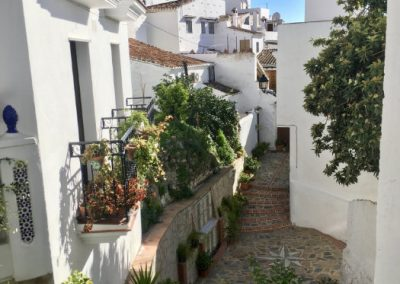 One of the famous Moorish white villages in Andalucia