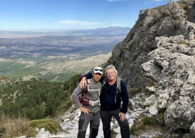 Javier and martin leading a walking tour in Andalucia