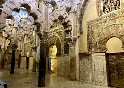 Inside the famous Mosque in Cordoba Spain