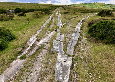Granite rail tracks at Haytor